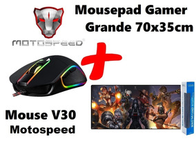 Mouse Gamer V30 + Mousepad Gamer Grande Assasin Creed Lol Pb