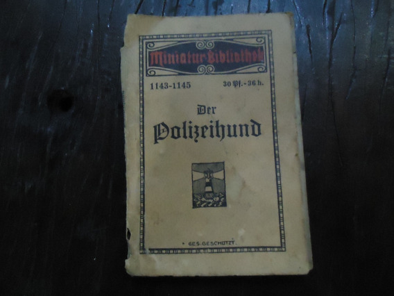 Antigo Mini Livro Alemao Barato