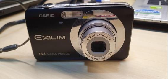 Camera Casio Exilm Ex-z9 Preto Na Caixa Usado Completo