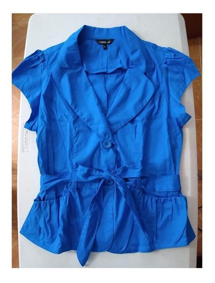Saco Corto Azul Cobalto De Algodón Cosmo & Company