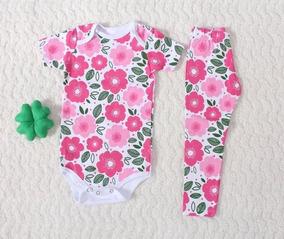 Body Casadinho + Legg Bebê Menina Veste De 10 Meses A Um Ano