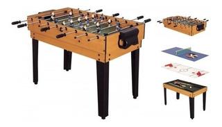 Mesa Multijuegos 4 En 1 Billar Futbolito Ping Pong Hockey