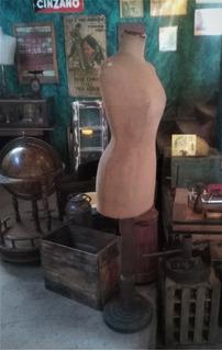 Maniquí Modista Antiguo Ideal Vidriera Dormitorio