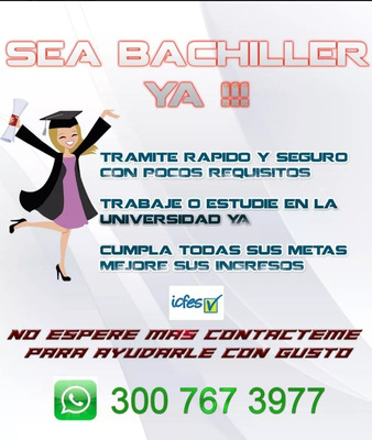 Obten Tu Titulo De Bachiller
