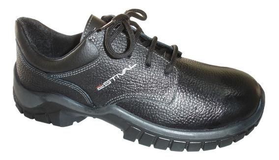 Sapato Estival Sem Bico De Aço Couro Bidensidade Epi