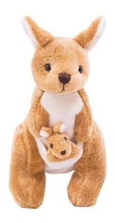 Canguru Com Filhote 26cm - Pelúcia
