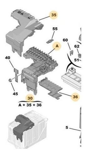 Caja Protección Gestión Fusibles Citroen C4 Lounge
