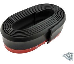 Spoiler Flexível Front Lip Ez Lip Universal Preto 2,5m X 5cm