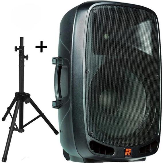 Caixa Acústica Staner Ativa Ps-1501 200w Com Pedestal