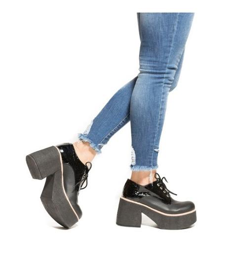 Zapato Acordonado Mujer Con Plataforma Invierno 2019