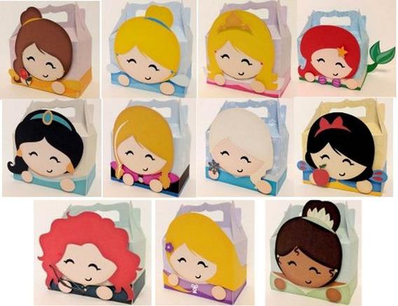 Kit Caixas Cute Box Princesas Disney - Arquivos Silhouette