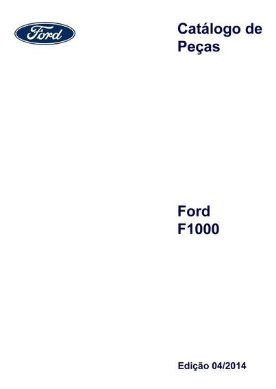 Catálogo Peças Ford F1000 Turbo Diesel 1993- 1998 - Impresso