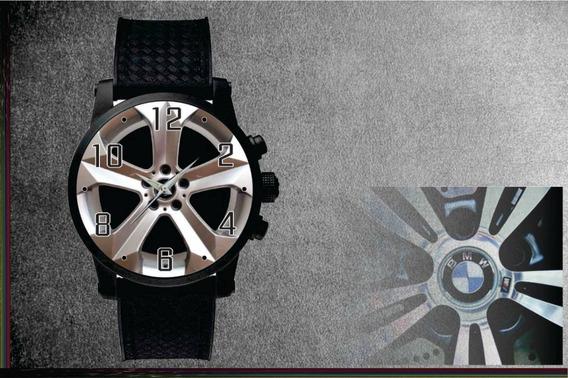 Relógio De Pulso Personalizado Roda Carro Esportivo Cod.1149