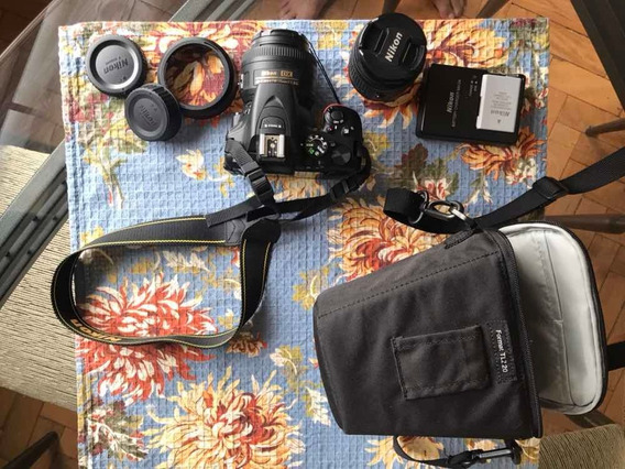 Kit Nikon D5600 + Lentes 18-55 Mm E 35 Mm