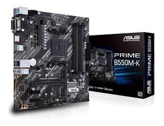 Motherboard Asus Prime B550m-k Amd Am4 Ryzen Pcie 4.0 Matx