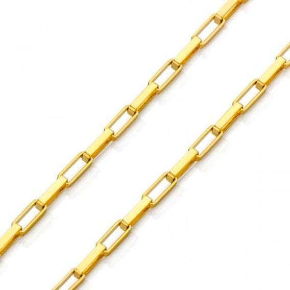 Corrente Em Ouro 18k Veneziana Longa De 1,8mm Com 60cm