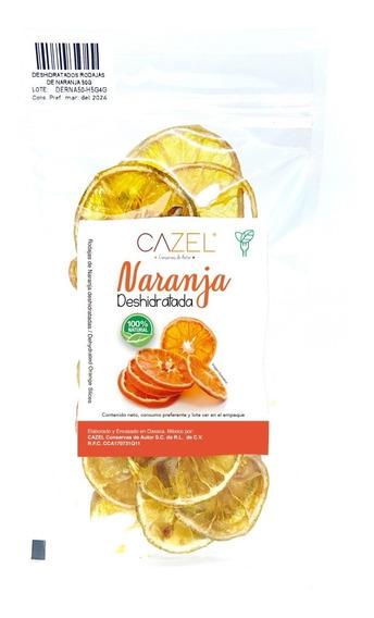 Naranja Deshidratada En Rodajas 50g Oaxaca Natural