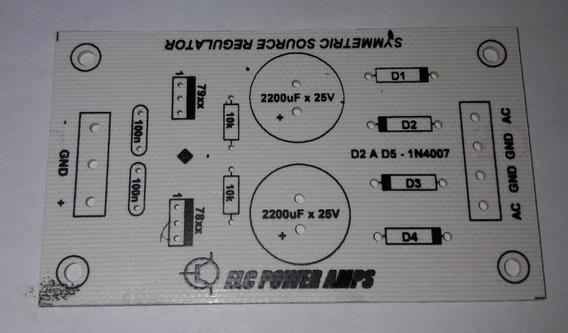 Placa Para Montar Fonte Simetrica Regulada Para Pré