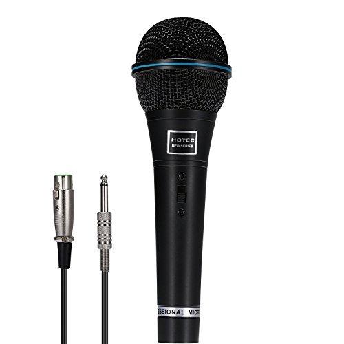 Hotec Profesional Vocal Dinamico Microfono De Mano Con Cable