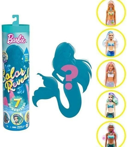 Barbie Color Reveal Wave Sirenas Original Mattel