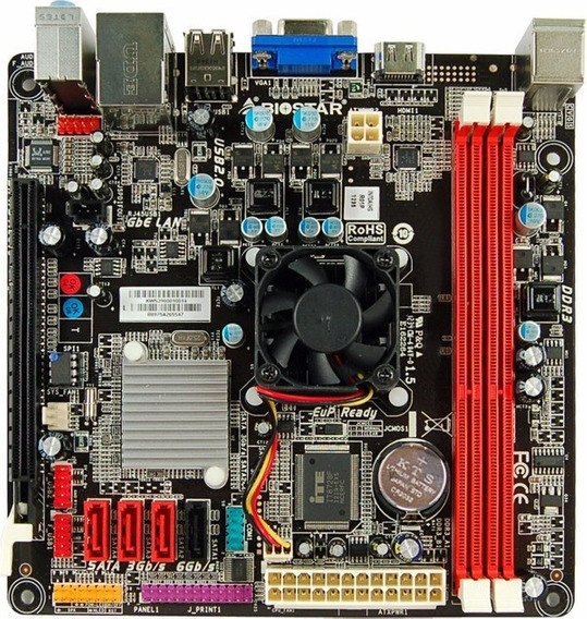 Placa Mãe Ddr3 + Processador Celeron Dual Core C/ Hdmi