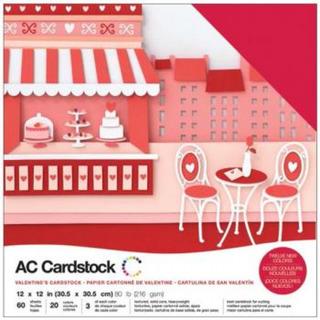 American Crafts Kit De Cardstock Kit Valentines - 60 Folhas