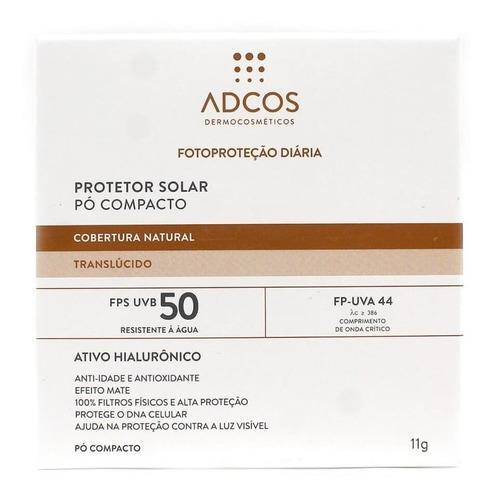 Imagem 1 de 1 de Adcos Filtro Solar Fps50 Pó Compacto Translúcido 11g