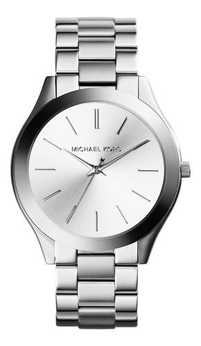 Reloj Michael Kors Stainless Steel Silver Slim Runway