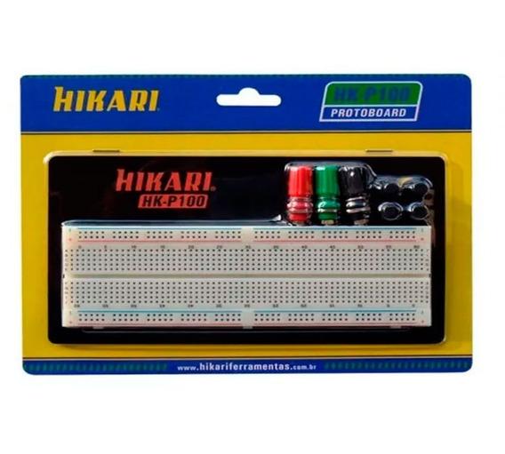 Protoboard 830 Pontos Hikari Hk-p100 Linhas C/ Identificação