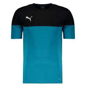 Camiseta Puma Ftbl Play Preta E Azul