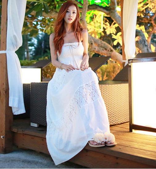 Vestido Longo Branco Feminino -- Pronta Entrega