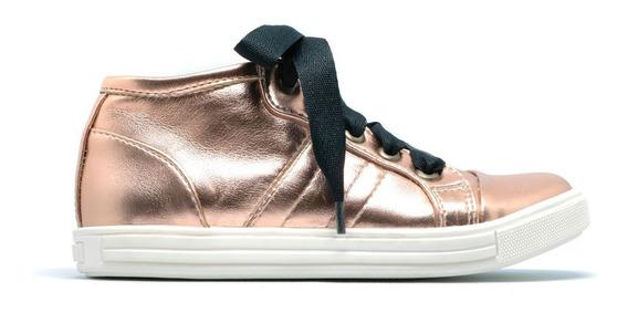 Zapatos Niña Tenis Frenezzo Thunder 3000 Oro Rosado