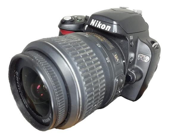 Câmera Nikon D60 Seminova + Lente 18-55mm Impecáveis