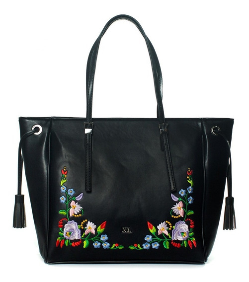 Butterfly Tote Negro Cartera Xl Extra Large Mujer