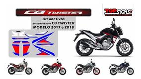 Adesivos Emblema Cb 250 Twister 2017 18 Personalizada