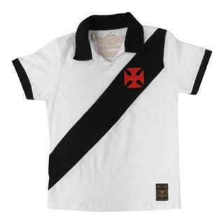 Camisa Infantil Retro Vasco Da Gama 1957 Oficial Br Ou Preta