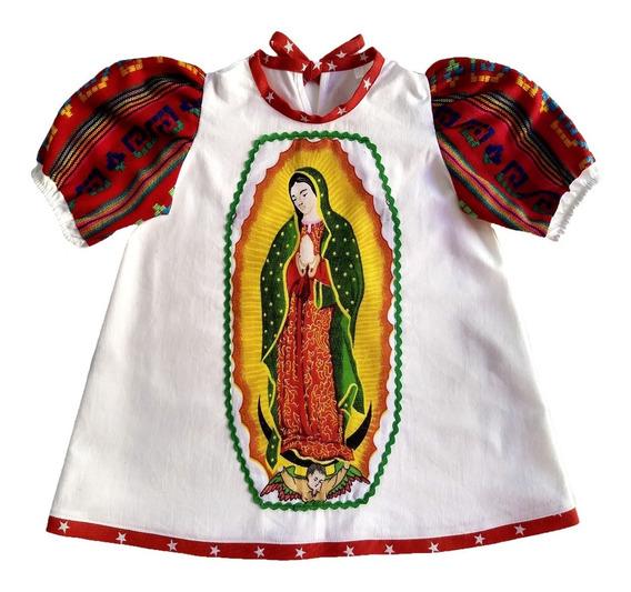Batita Guadalupana Infantil Bata Bordada Virgen Guadalupe