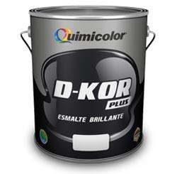 Pintura Esmalte (aceite) D-kor Rojo X Galon