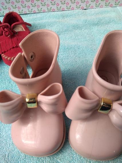 Lote De Bebe Menina Com 5pares De Sapatos
