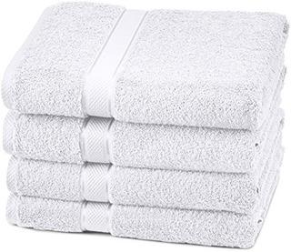 Pinzon Egyptian Cotton Bath Towel Set (4 Pack) - White