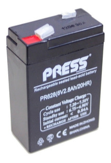 Bateria De Gel 6v 2,8ah Luces De Emergencia Baw Press