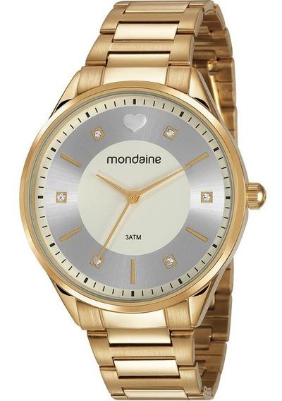Relógio Mondaine Feminino Dourado Original Nota Fiscal