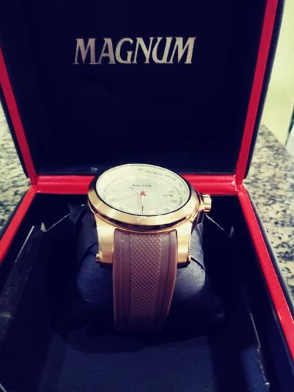 Relogio Original Magnum Masculino Banhado A Ouro 18k