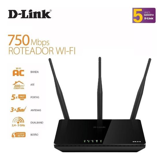 Roteador Wireless D-link Ac Dual Band 750mbps Dir-819 Top