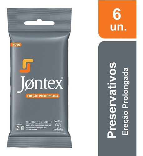 Preservativo Jontex Ereção Prolongada C/ 6 Camisinhas