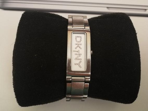 Reloj Plateado Con Cristal Dkny