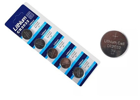 Bateria Cartela C/5 3 Volts Cr2032 Placa Bios Game Controle