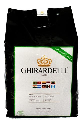Café Ghirardelli Organico Colombia Tostado Molido/grano 500g