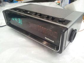 Radio Relogio Antigo National Otima Iluminação Frete Gratis