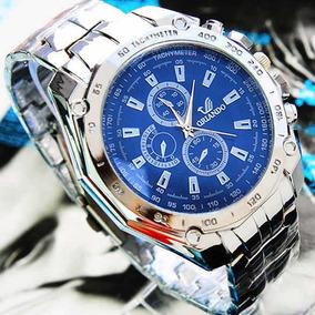 Moda Homens Aço Aço Cinto Esporte Negócio Quartz Relógio Rel